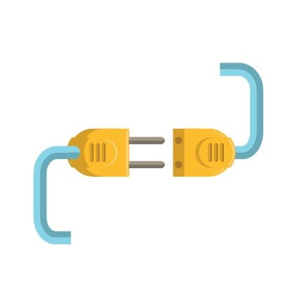 This image shows electrical connection between a plug for electrical repair