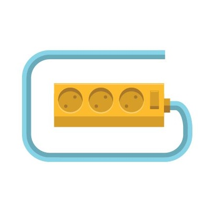 This image shows an extension cord to represent surge protection