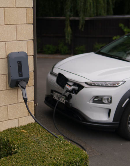 This picture shows EV charger installers in Tallahassee